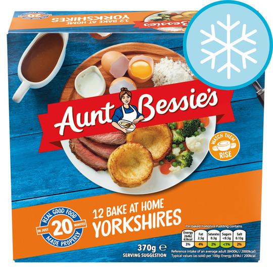 Aunt Bessie's 12 Homebake Yorkshires 370G
