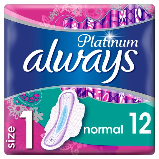 image 1 of Always Platinum Normal Size 1 Sanitary Towels With Wings 12