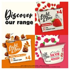 image 3 of Light & Free Greek Style Strawberry Yogurt 4X115g