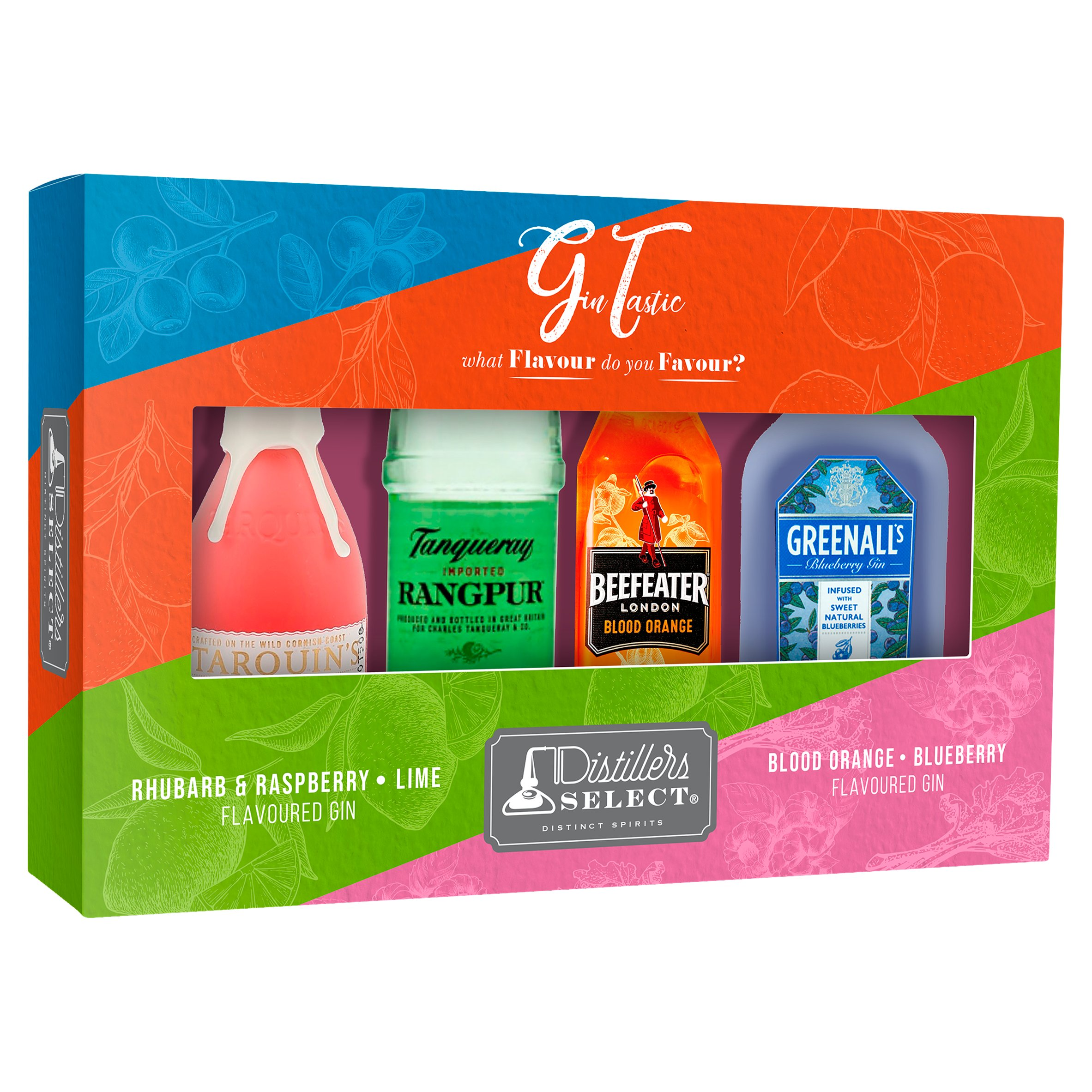 Distillers Select Flavoured Gin Tasting Selection Pack 4 X 5Cl