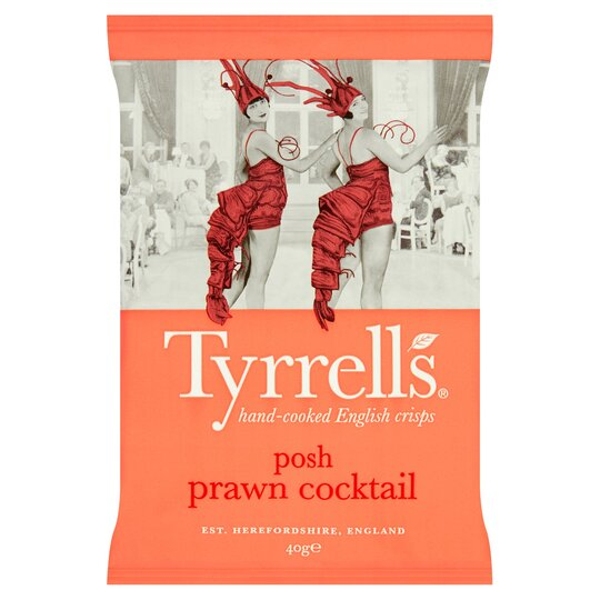 Tyrrells Posh Prawn Cocktail Crisps 40G