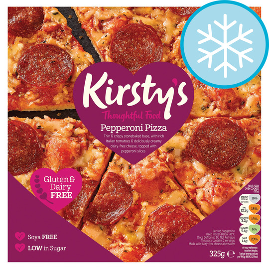 Kirsty's Free From Pepperoni Pizza 325G