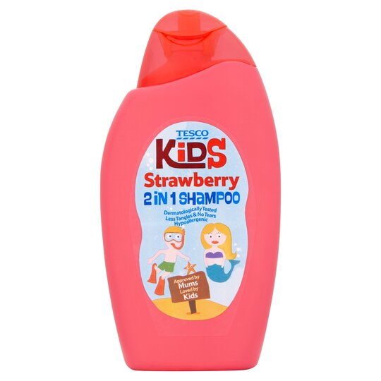 Tesco Kids Strawberry 2 In 1 Shampoo 250Ml
