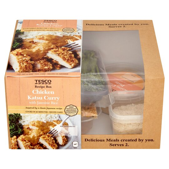 Tesco Recipe Box Chicken Katsu Curry With Jasmine Rice 715g