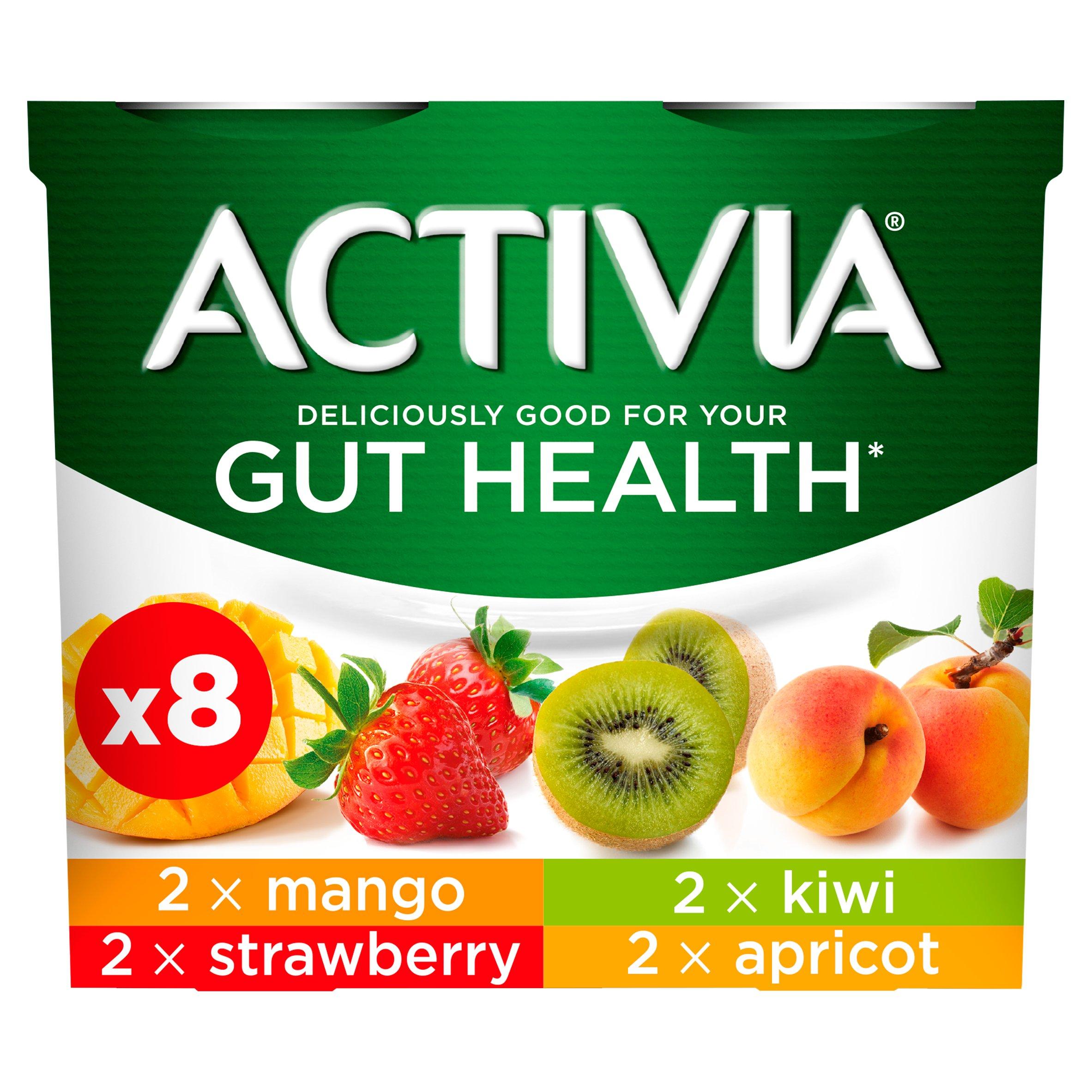 Activia Yogurt Strawberry & Mixed Fruit 8X115g