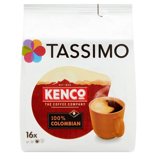 Tassimo Kenco 100 Colombian 16 Coffee Pods