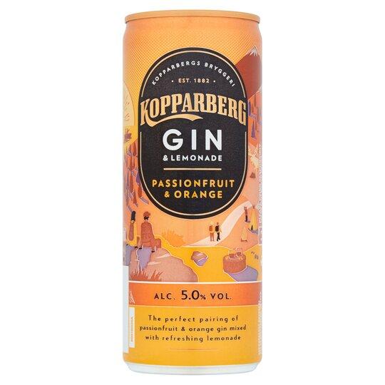 kopparberg gin nutritional information