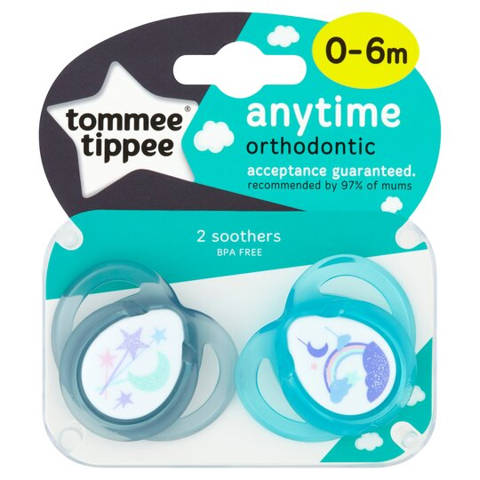 Tommee Tippee Closer To Nature 0-6 Months Anytime Soother X2