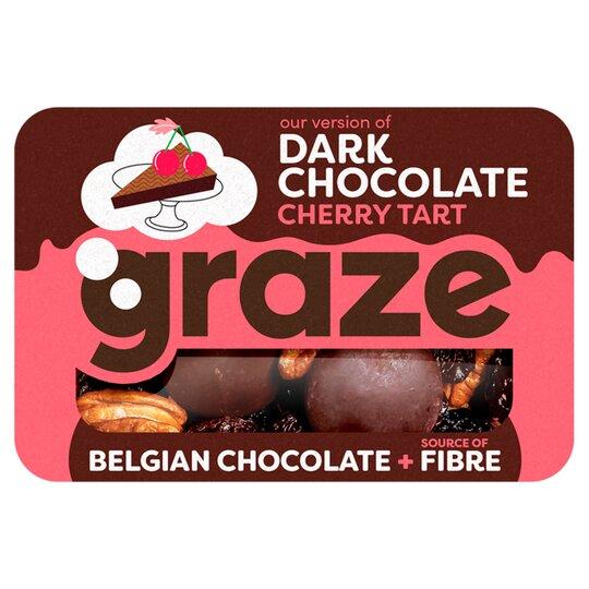 Graze Dark Chocolate Cherry Tart 40G