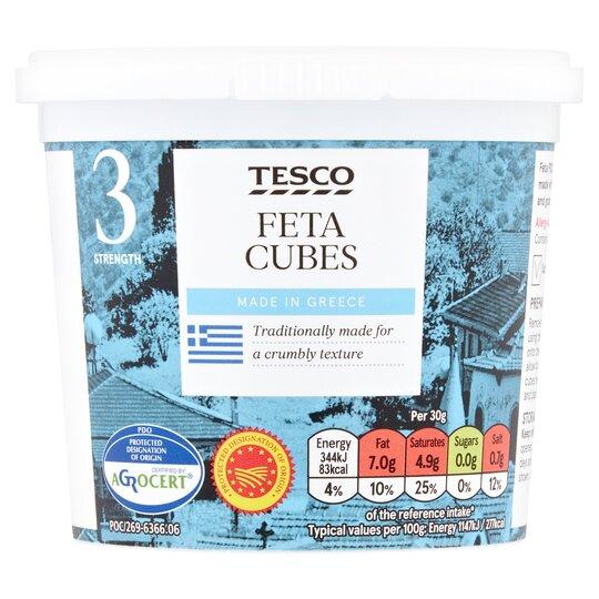 Tesco Feta Cubes 370G