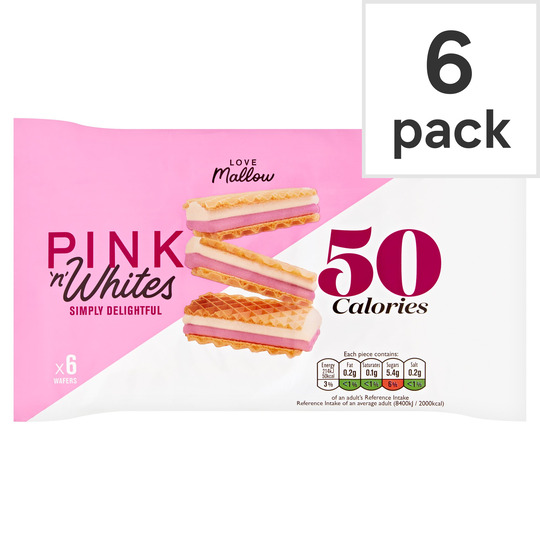 Caxton Pink & White Wafers 6 Pack 85G