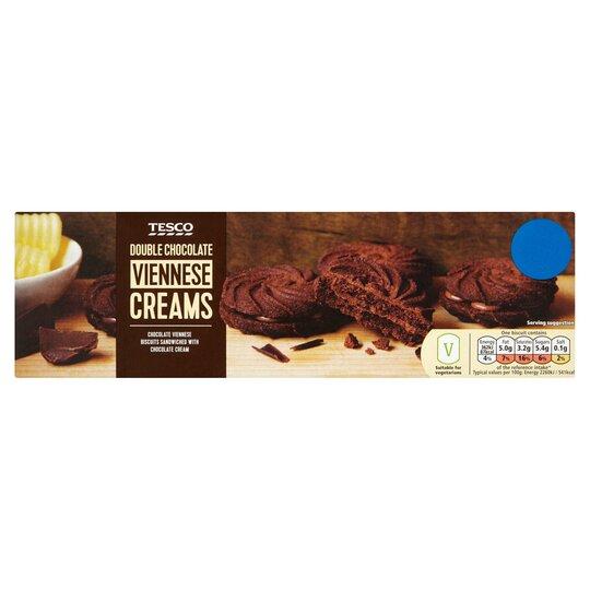 Tesco Double Chocolate Viennese Creams 125g Tesco Groceries