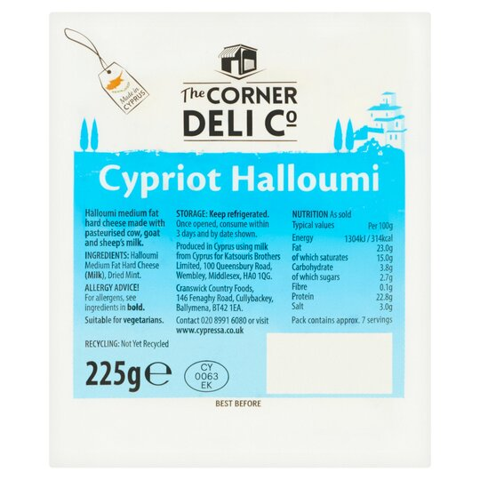Corner Deli Cypriot Halloumi 225G