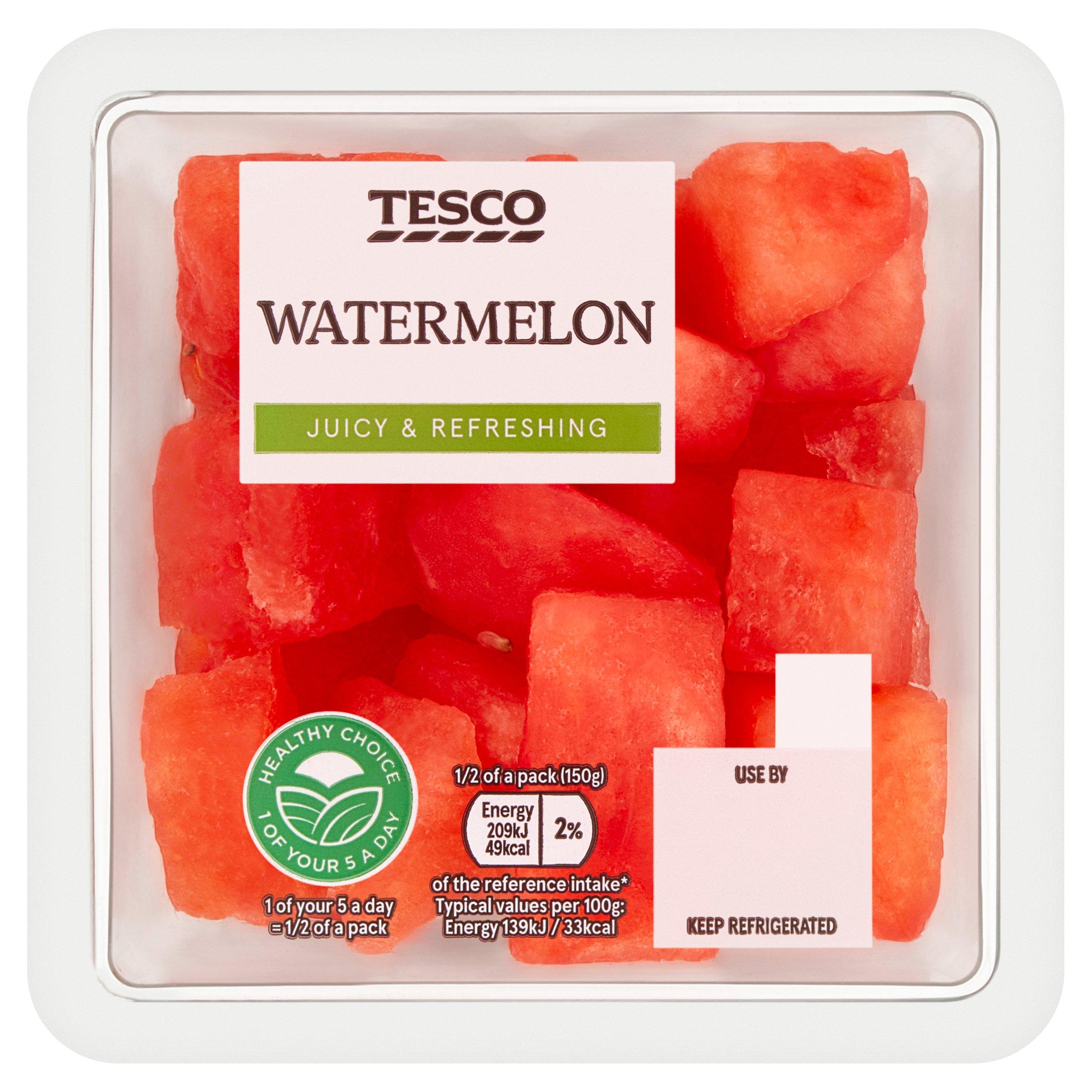 Tesco Watermelon Chunks 300G