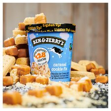 image 2 of Ben & Jerry's Moophoria Caramel Cookie Fix Vanilla Ice Cream 465Ml