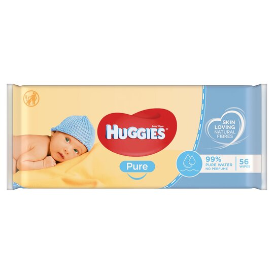 Huggies Pure Baby Wipes Pure 56