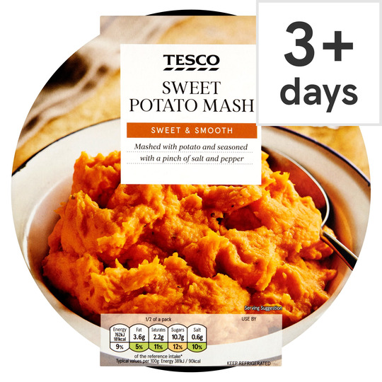 Tesco Sweet Potato Mash 400g