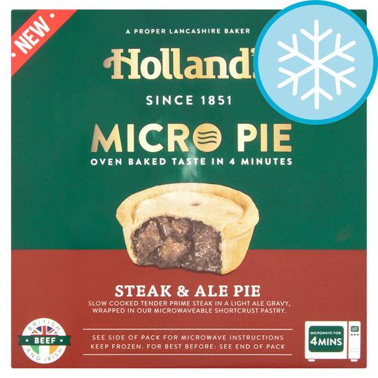 HOLL&'S MICRO STEAK & ALE PIE 200g - Tesco Groceries