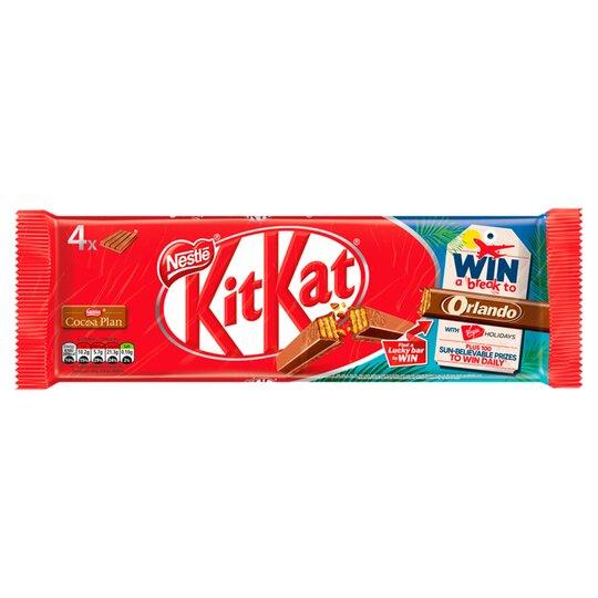 Kit Kat Milk Chocolate 4 Pack 166G