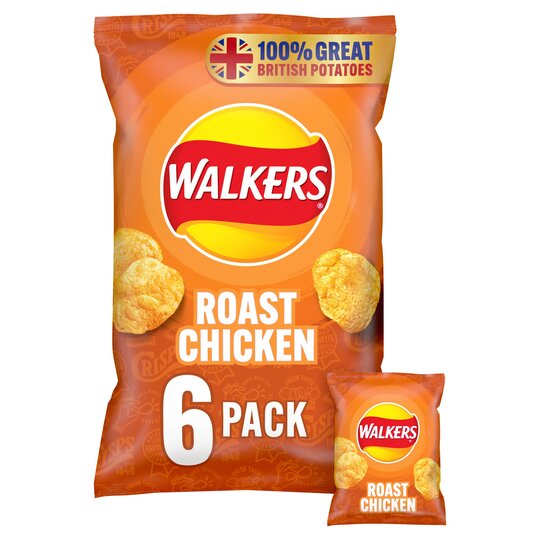 image 1 of Walkers Roast Chicken Crisps 6X25g