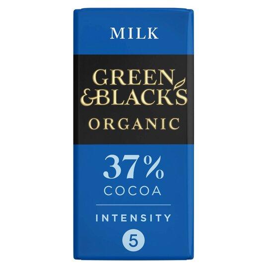 image 1 of Green & Blacks Organic Milk Chocolate 90G