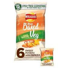 image 1 of Walkers Oven Baked Sweet Potato 6X23g