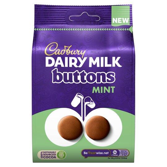 Cadbury Dairy Milk Mint Buttons Chocolate 110G