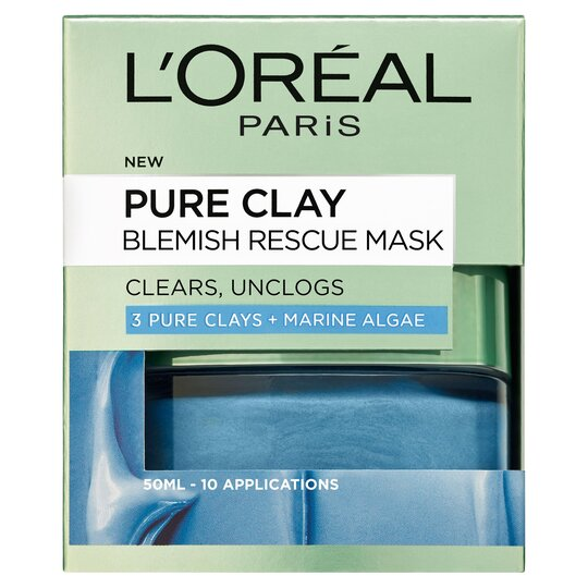 image 1 of L'oreal Paris Pure Clay Blemish Rescue Face Mask 50Ml