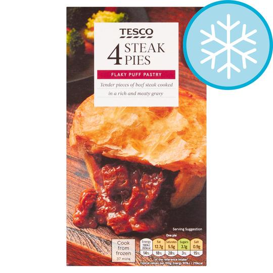 Tesco 4 Steak Pies 568G - Tesco Groceries