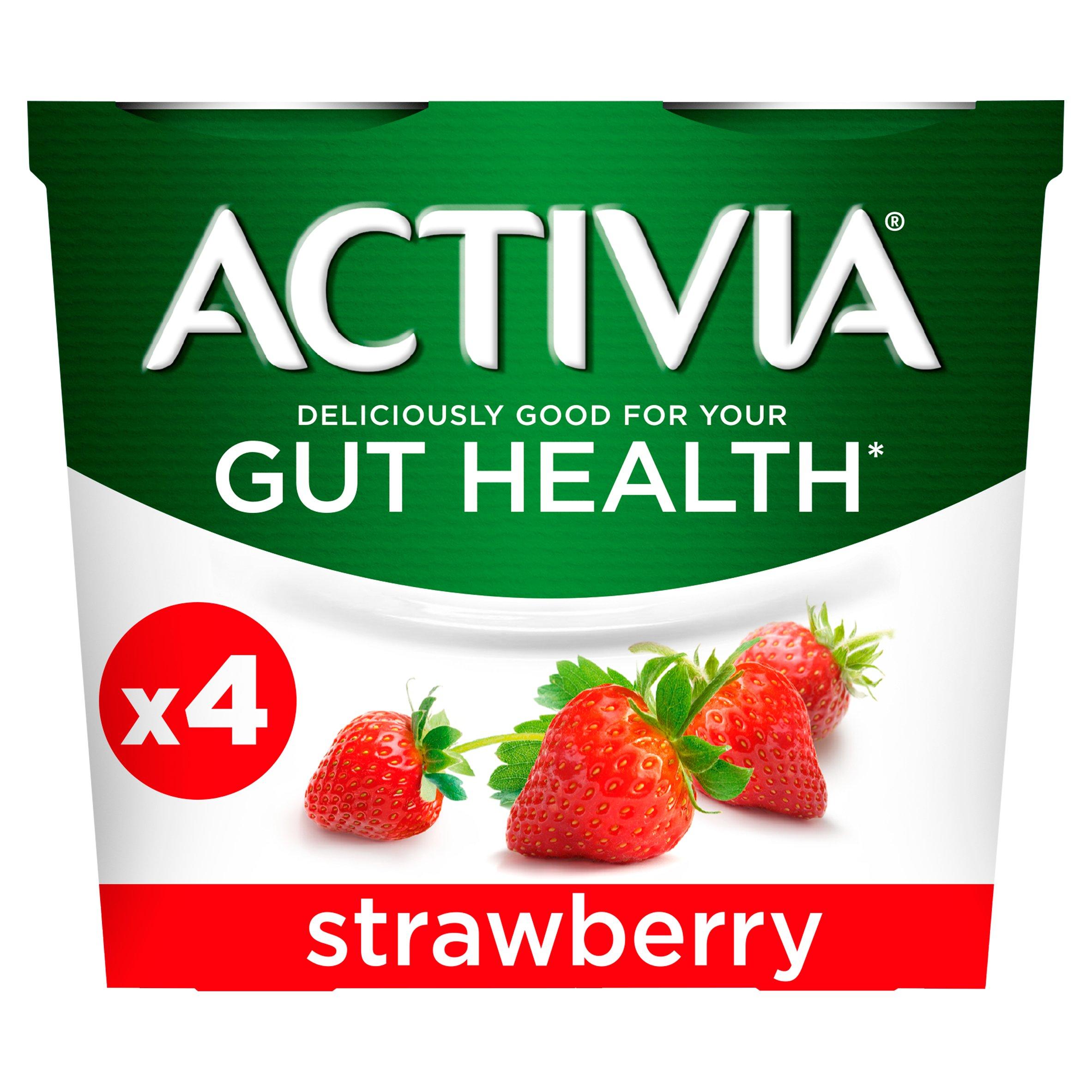 Activia Strawberry Yogurt 4X115g