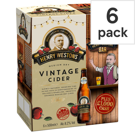 image 1 of Henry Westons Vintage Cider 6X500ml