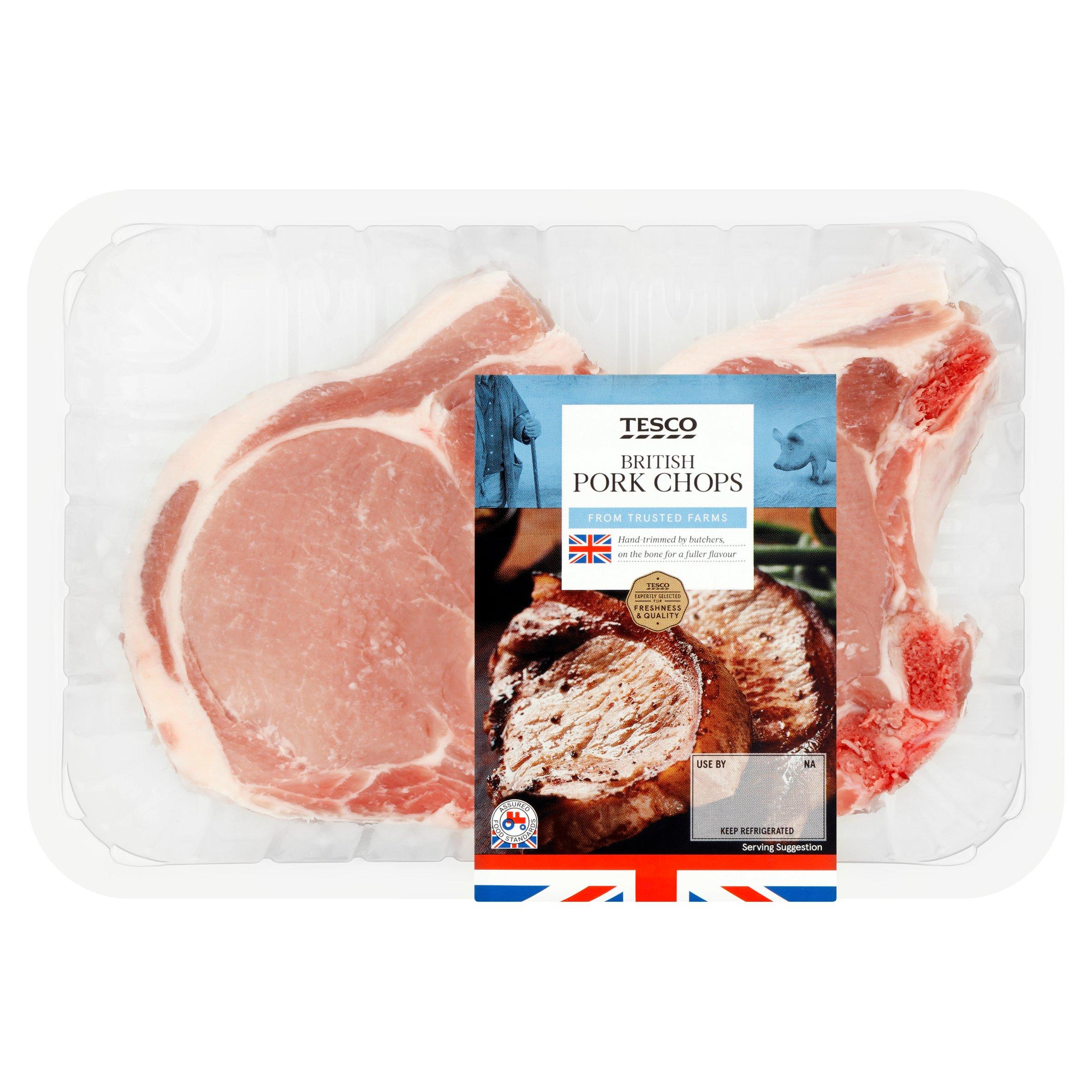 Tesco 2 Pork Loin Chops 450G