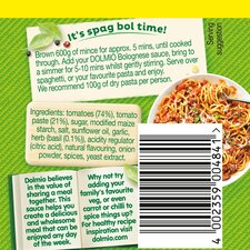 image 2 of Dolmio Bolognese Smooth Tomato Pasta Sauce 750G
