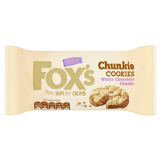 image 1 of Fox's White Chocolate Chunky Cookies 180G