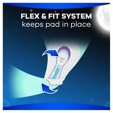 image 2 of Always Ultra Secure Night Time Sanitary Towels With Wings 18