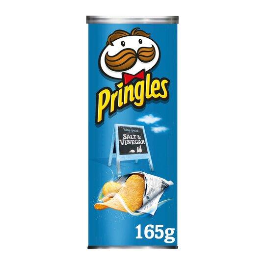 Pringles Salt & Vinegar Crisps 165G