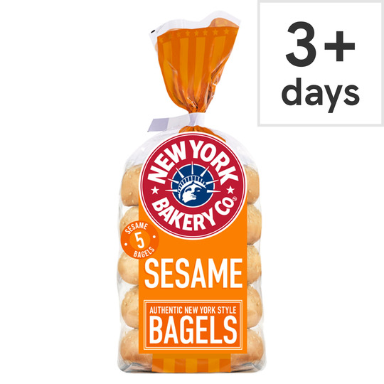 image 1 of New York Bakery Sesame Bagels 5 Pack