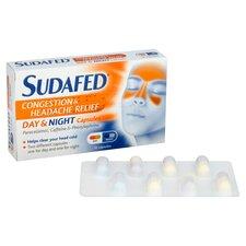 image 2 of Sudafed Headache Day & Night Capsules 16'S
