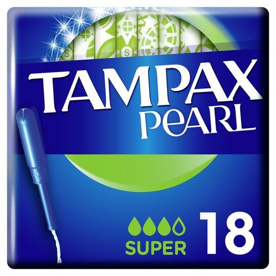 image 1 of Tampax Pearl Applicator Super Tampons 18 Pack