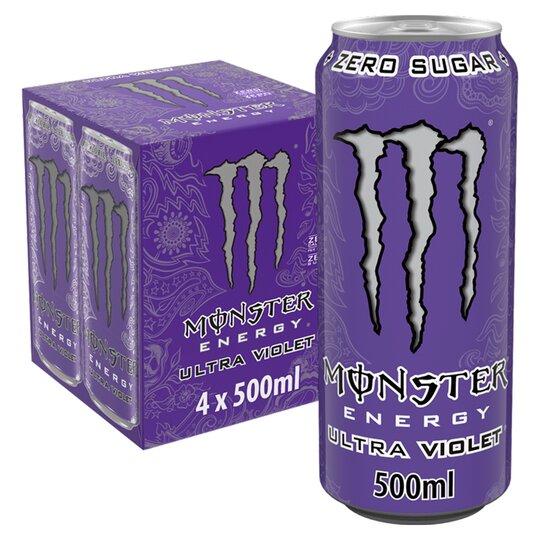 image 1 of Monster Ultra Violet 4X500ml