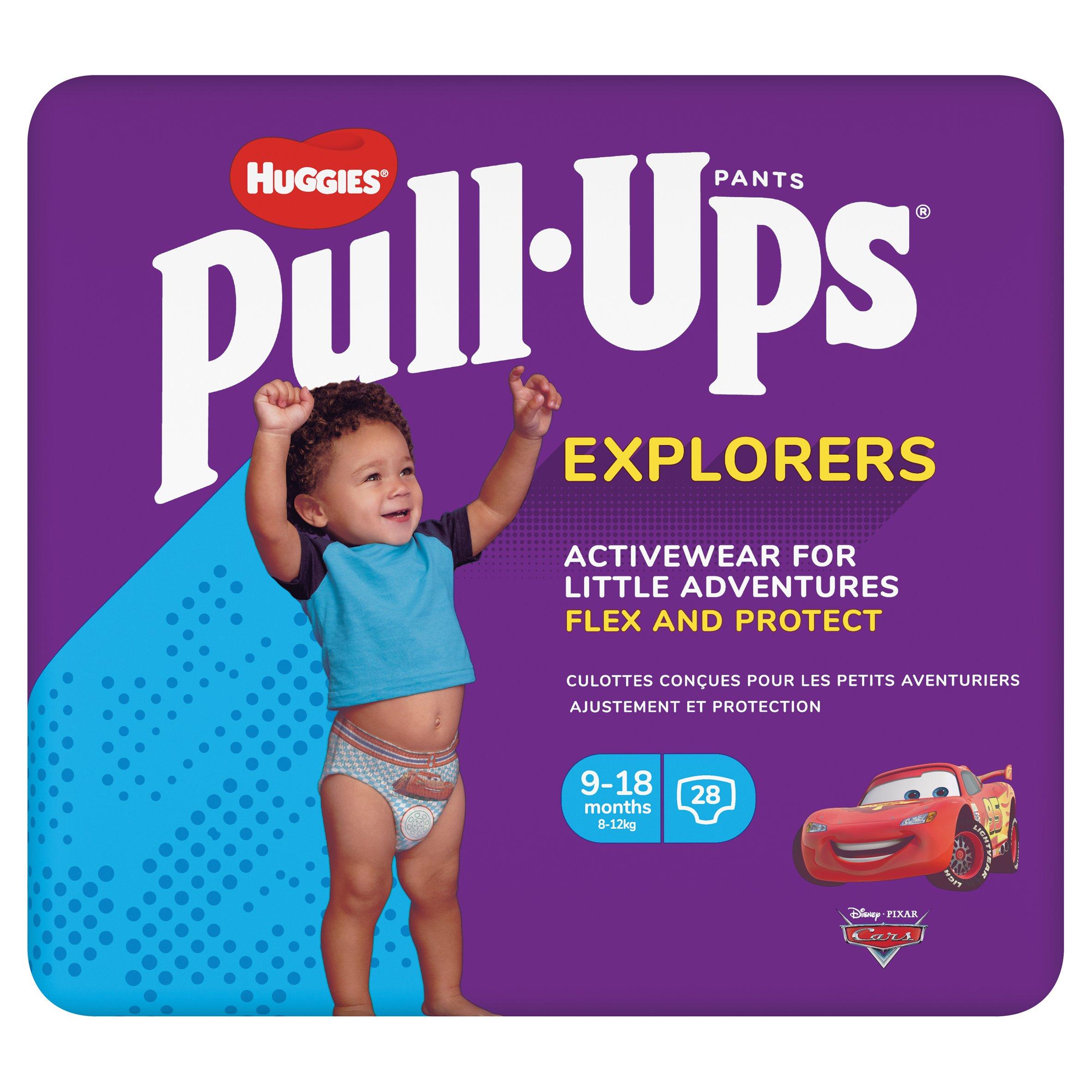 Huggies Pull Ups Explorers 9-18 Months Blue 28Pk
