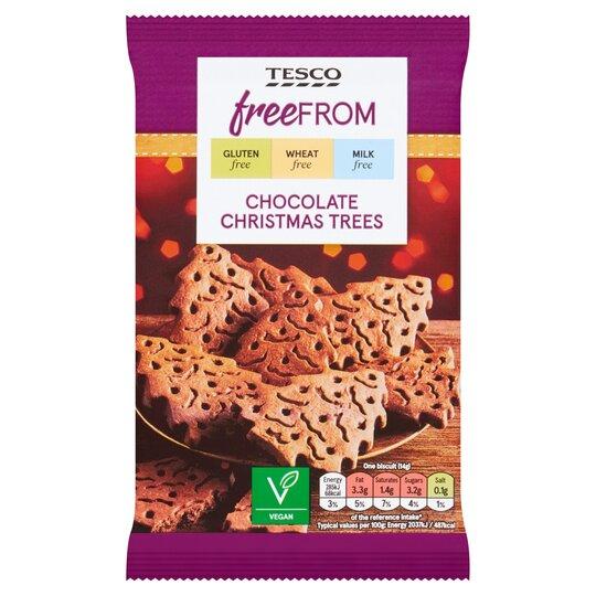 Tesco Free From Chocolate Christmas Tree's 112G