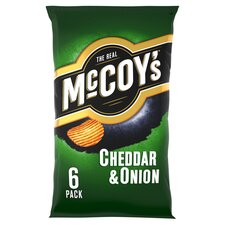 image 1 of Mccoy's Cheddar & Onion Crisps 6X25g