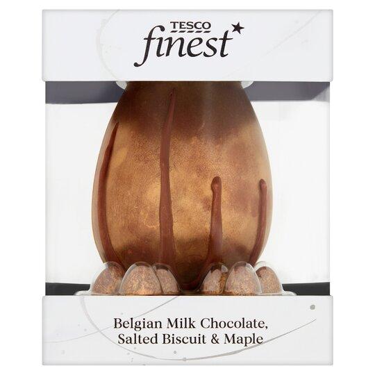 Tesco Finest Belgian Milk Choc Salted Biscuit Maple Egg