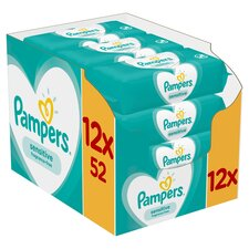 image 1 of Pampers Sensitive Fragrance Free Multi Pack 624S 12 Pack