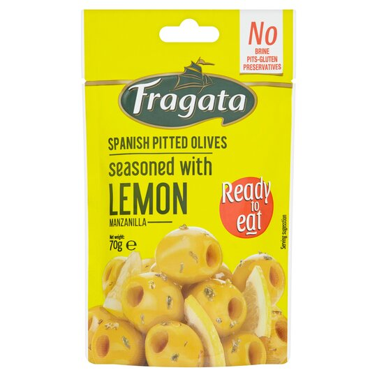 Fragata Snack 'N Green Olives With Pinch Of Lemon 70G