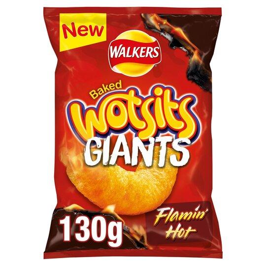 image 1 of Walkers Wotsits Giants Flamin' Hot Snacks 130G