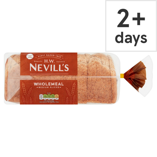 H W Nevill's Wholemeal Bread 800G