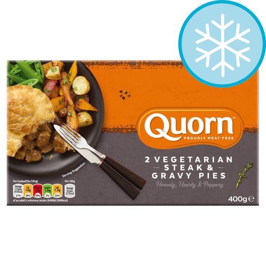 Quorn 2 Steak Style & Gravy Pies 400G - Tesco Groceries