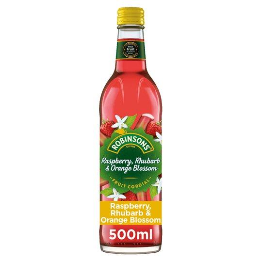 image 1 of Robinson Cordial Raspberry Orange & Rhubarb 500Ml